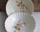 Vintage Floral Dogwood Bolero W. S. George China Large Serving Bowls