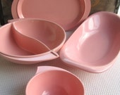 Vintage Pink Boonton Serving Bowls and Platters