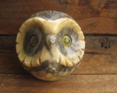 Vintage Alabaster Owl Paper Weight