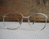 Vintage Silver Eyeglass Frames Silver Simple Stylish