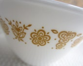 Vintage Butterfly Gold Creamer and  3 Hook Style Cups Corelle Corning