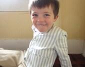Vintage Little Boy Blue and White Stripe Spring Blazer Jacket Jack Jar Sunday Best