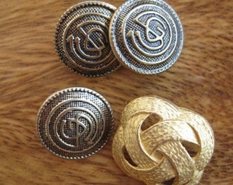 Vintage Gold Tone Metal Buttons