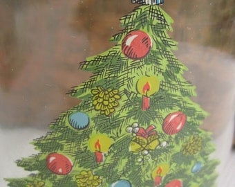 Vintage Sabin Christmas Tree Large 3L Glass Canister