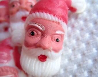 Vintage Santa Picks Appetizers Cupcakes Craft Supplies