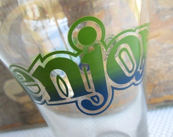 Vintage 1970's Enjoy Oversized Novelty Pint Glass