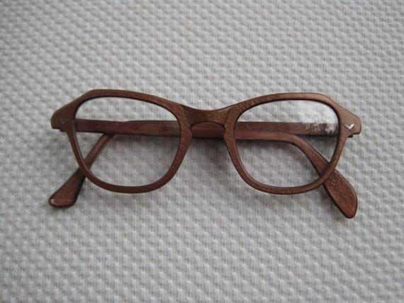 Vintage rose colored cat eye art craft eyeglass frames for Art craft eyeglasses vintage