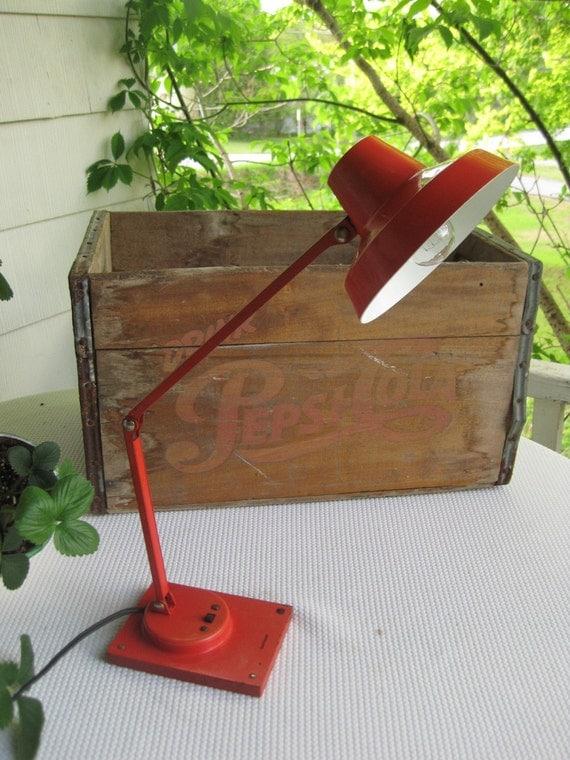Vintage Tensor Red Desk Lamp