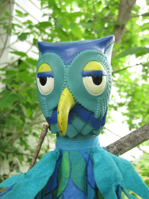 Vintage 1977 X The Owl Puppet From Mister Rogers