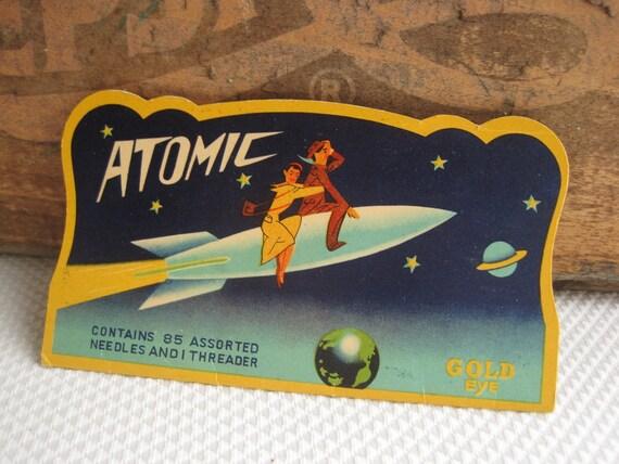 Vintage Atomic Needle Book 1940's 1950's