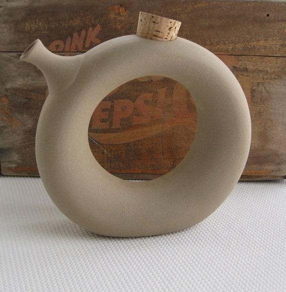Vintage Round Carafe Wine Chiller Hartstone Pottery