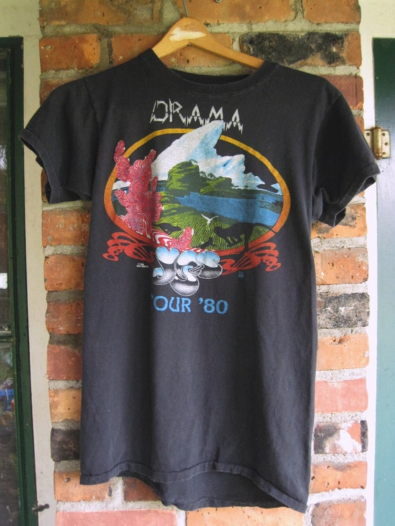 Vintage Yes 1980 Drama Tour Concert Tee Shirt