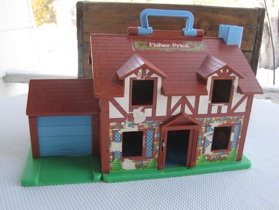 Vintage Tudor Doll House Little People Fisher Price