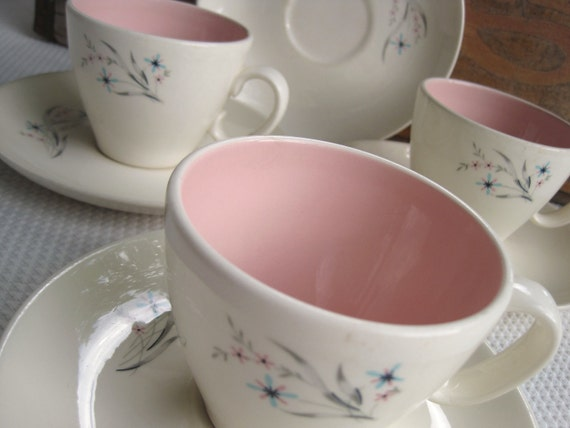 Vintage Windemere Taylor Smith Taylor Ever Yours Cups and Saucers