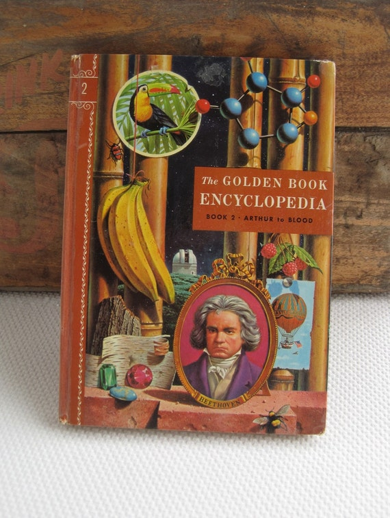 Reserved 1959 Golden Book Encyclopedia Book 2 Arthur to Blood
