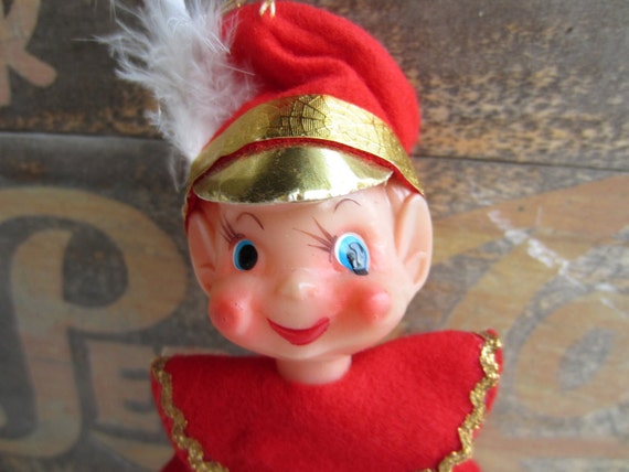 Vintage Christmas Decoration Sale Red Pixie Tree Ornament Christmas  Holiday Kitsch