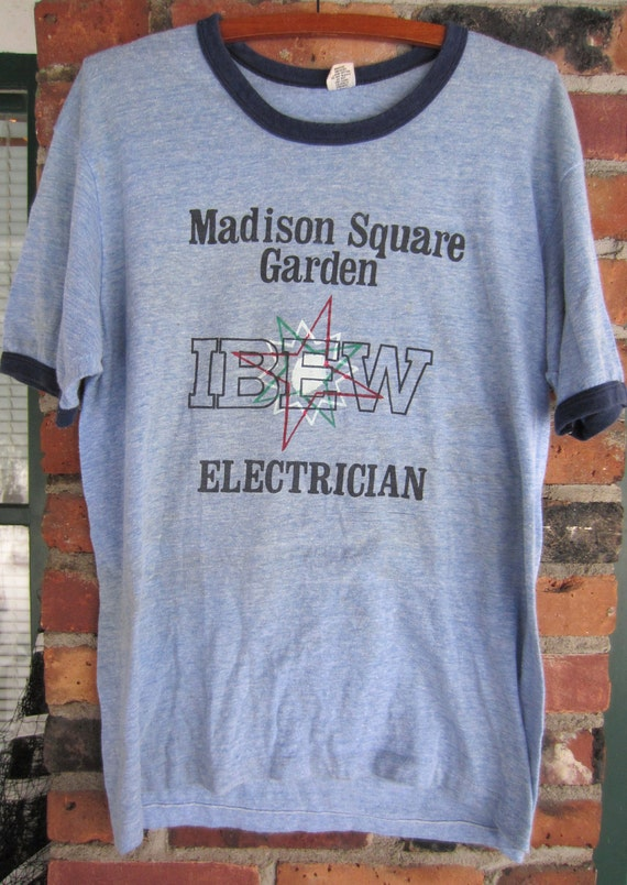 Vintage Madison Square Garden IBEW Electrician Union Tee Shirt