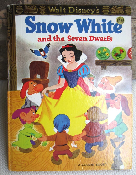Vintage 1981 Walt Disney's Snow White and the Seven Dwarfs A Golden Book