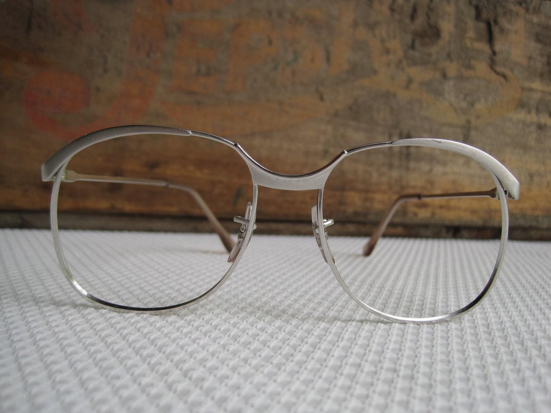 Vintage Silver Eyeglass Frames Silver Simple Stylish