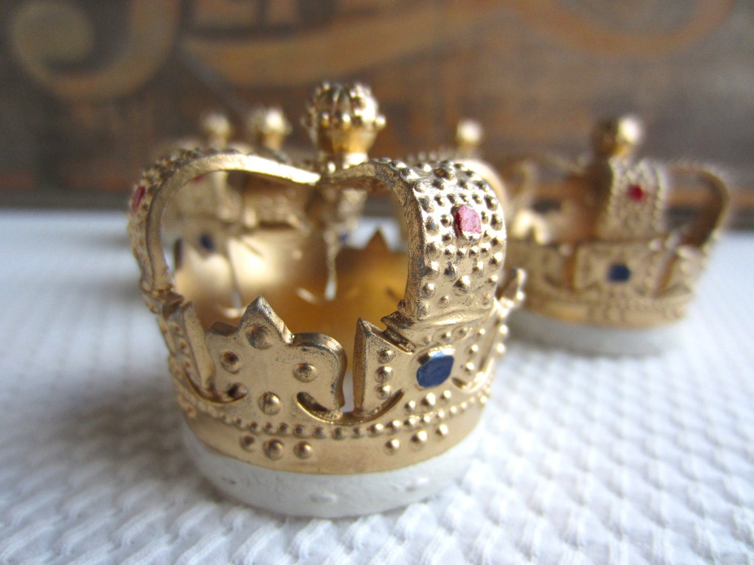 Vintage Royal Crown Cake Decorations Cupcake Topper By