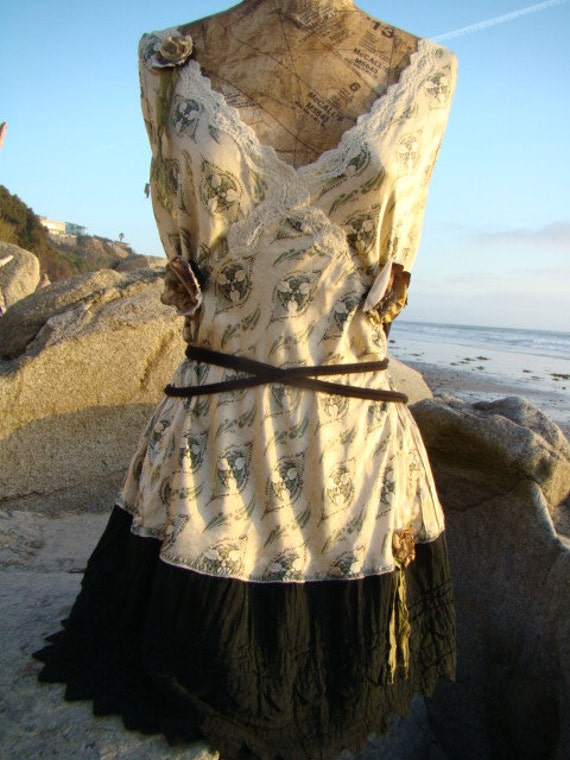 Romantic Sage Hippie Dress