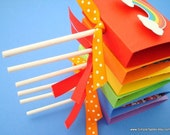 Rainbow Lollipop Covers, Rainbow Party Favors, (20) Reserved for Melanie