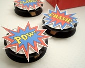 SuperHero Party Favor Bag Toppers, Set of Ten