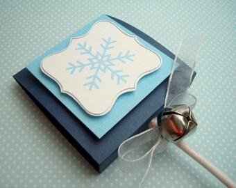 Blue Snowflake Lollipop Party Favors, Set of Ten