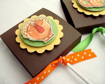 Thanksgiving Lollipop Party Favors, Set of Ten