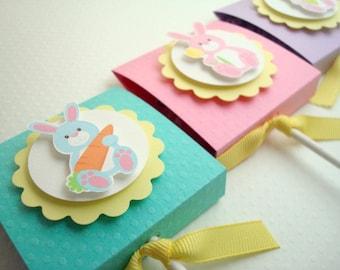 Easter Lollipop Favors, Pastel Bunnies, Set of Ten