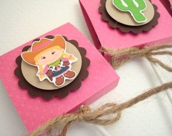 Pink Cowgirl Lollipop Favors, Set of Ten