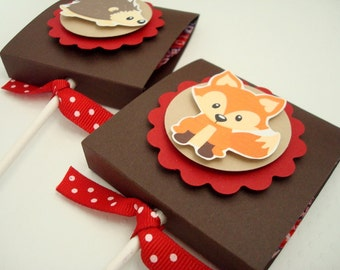 Woodland Animals Lollipop Favors, Set of Ten