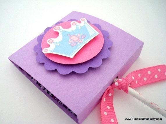 Purple Princess Lollipop Party Favors, Set of Ten