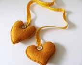 Yellow Amour-------- Felt. Heart