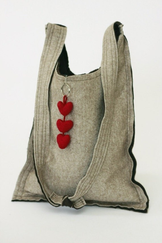 Valentine Bag -------- Felt. Hand Bag.