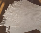 Handwoven  Huck placemats in Natural Cotton - set of 4