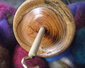 Beautiful and Eco-Friendly Hand Turned Hickory Top Whorl Wood Drop Spindle with Poplar Shaft