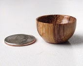 Miniature Dollhouse Wood Bowl - Dollhouse Miniature Hand Turned Marblewood Wooden Bowl for Dollhouse Decor - 1/12 Scale