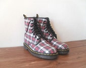 Vintage Plaid Doc Martens Boots FrEE ShiPpiNG US