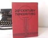 20th Century Typewriting Third Edition Textbook Hardback 1930s Red Black Art Deco Typewriters Home Decor Coffee Table Book