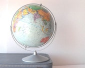 Vintage Replogle Globe 1970s Office Decor