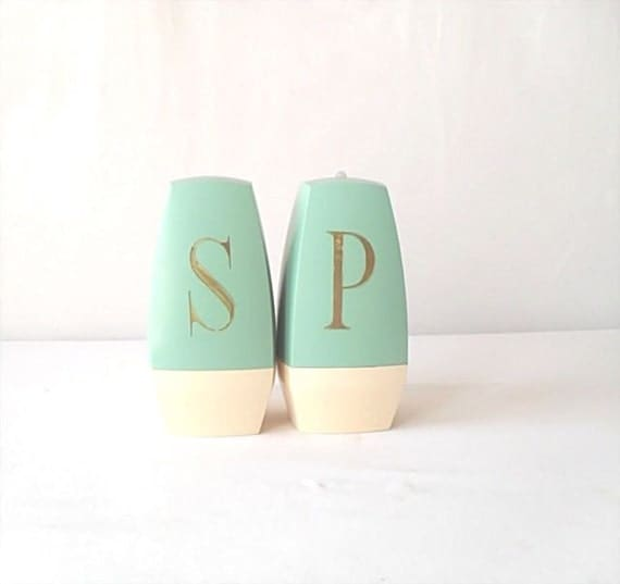 Turquoise Salt and Pepper Shakers by Stanley Home