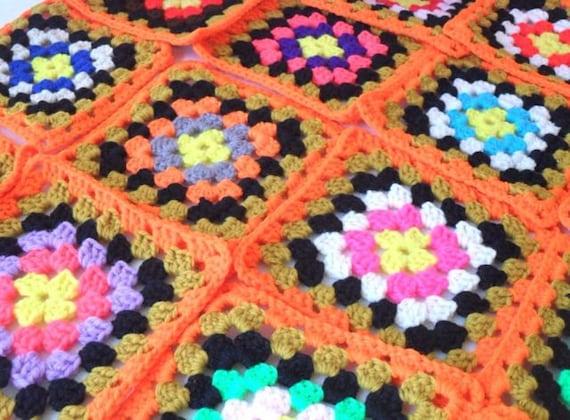 Handmade Granny Squares Lot of 83