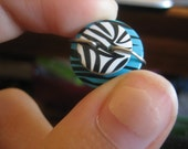 Reserved for cjahlers1 - Double zebra button ring