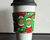 Hot/Cold Cup Sleeve Grinch Reversible Coffee Cozy by Uptown Avenue