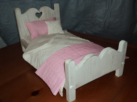 Antique look  Shabby Chic American Girl Doll Bed