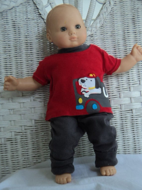 Bitty baby Boy 2 pc  fireman  Outfit