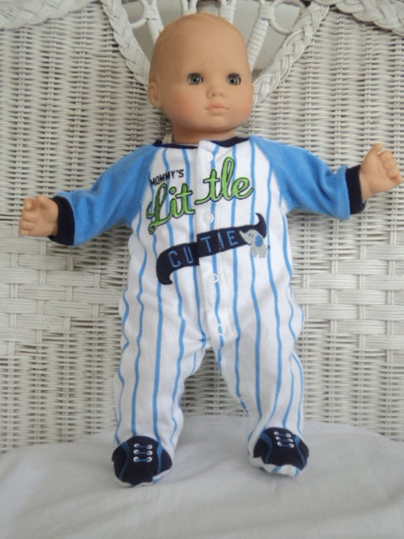 Bitty Baby Boy Baseball Footed Pajamas By Btcrafts On Etsy
