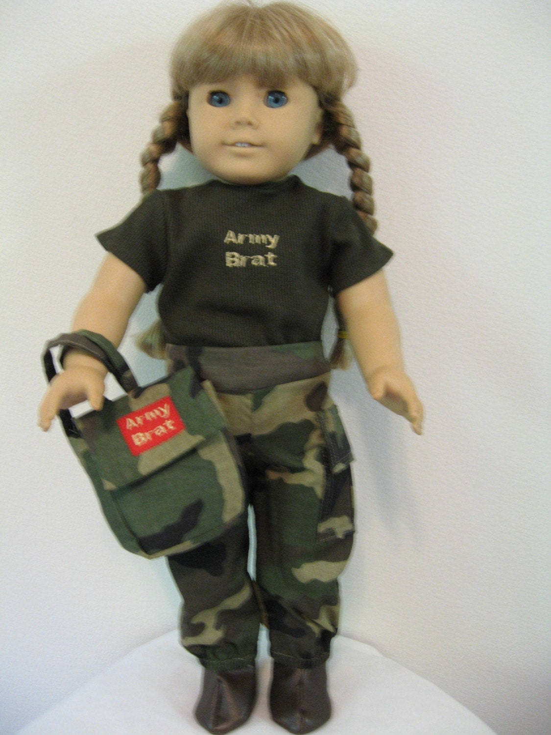 Army Brat Camaflauge Outfit For American Girl Dolls