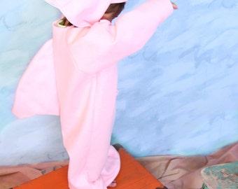 Rare Amazon Pink Dolphin Costume -size 7/8